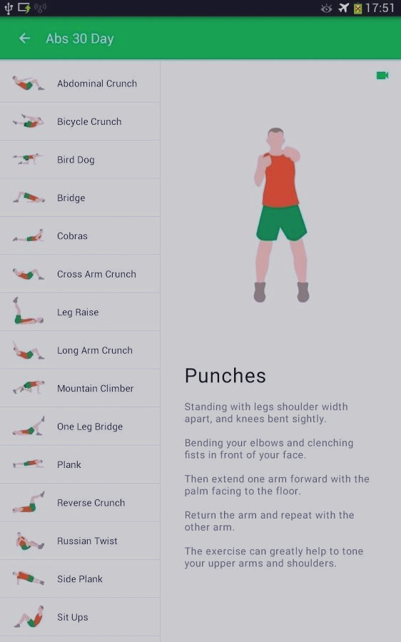 Скриншот 30 Day Fit Challenge Workout