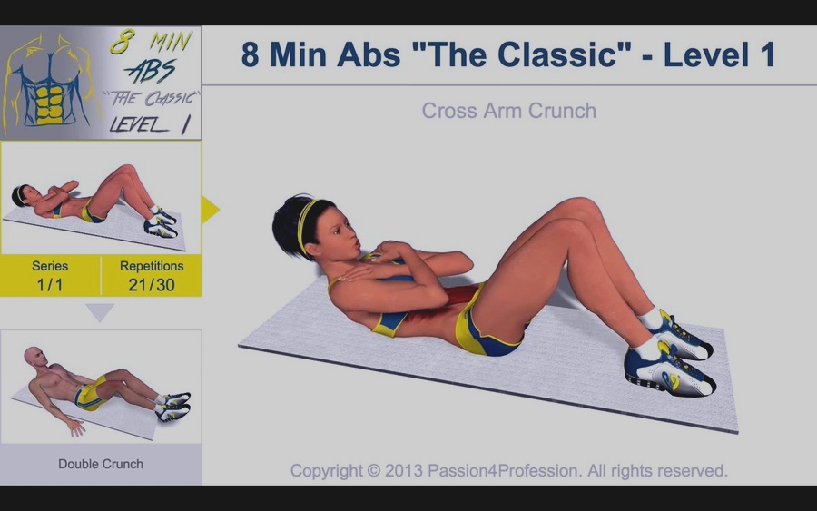 Скриншот 8 Minutes Abs Workout