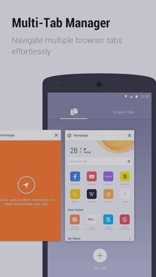 Скриншот A5 Browser-Small, Easy, Fast