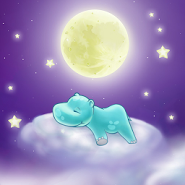 Hippo and the Moon